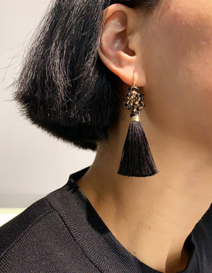 Project 11 - Tatted insertion - Picot tassels earrings