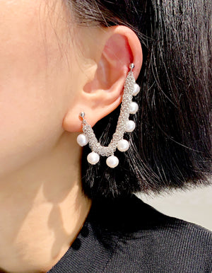 Project - Teardrops of the moon - Double posts earring