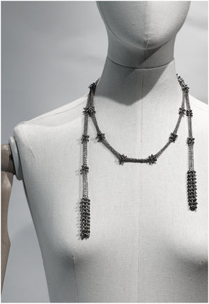 Versatile cable chain neck-piece