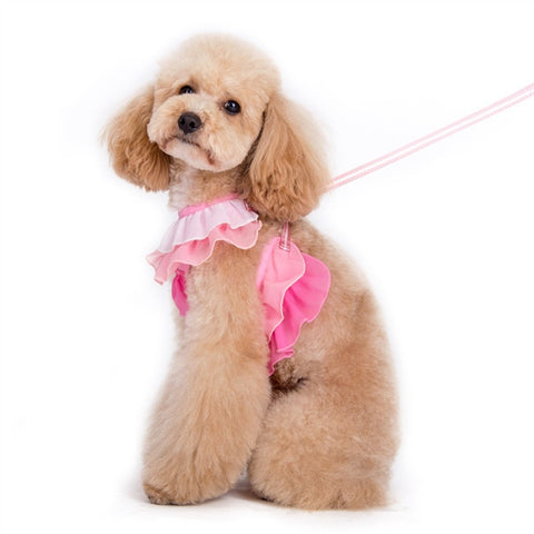 Pink and White Ruffle Harness - Pandaloon