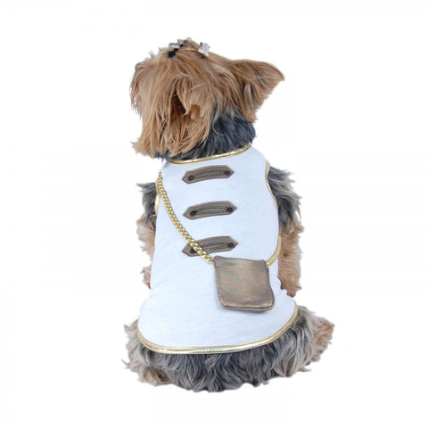 Boho Inspired Gold Trim Applique Dog Purse Shirt - Pandaloon