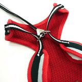 Polo Shirt Dog Harness Red/Black