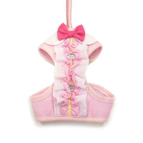 Pink Ruffle Dog Harness - Pandaloon