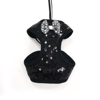 Sequin Bowtie Harness Black - Pandaloon