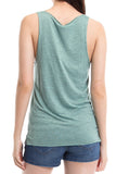 Green Panda Pocket Lightweight Tank Top - Pandaloon