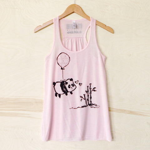 panda balloon pink steppie t shirt