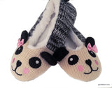 Panda Lover V Neck T Shirt and Knit Slipper Gift Set - Pandaloon
