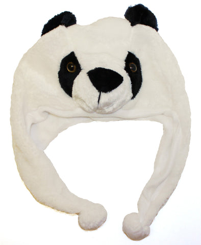 Panda Bear Hat with Ear Flaps - Pandaloon