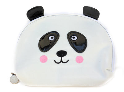 Panda Bear Face Canvas Travel Makeup Bag - Pandaloon