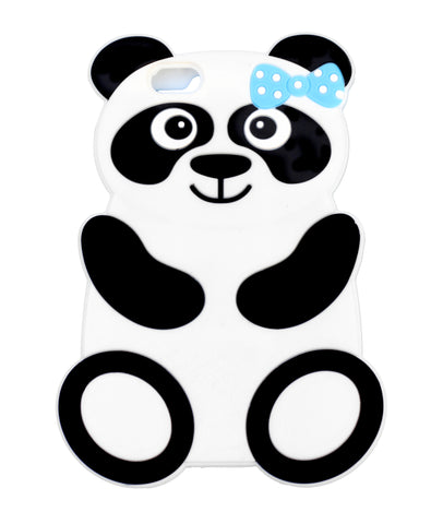 Silicone Panda Bear with Blue Bow IPhone 6 / 6S 3D Case - Pandaloon