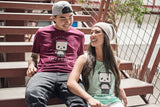 cute panda couple tee shirt