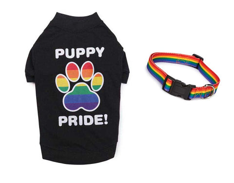 Puppy Pride T-Shirt and Collar Set