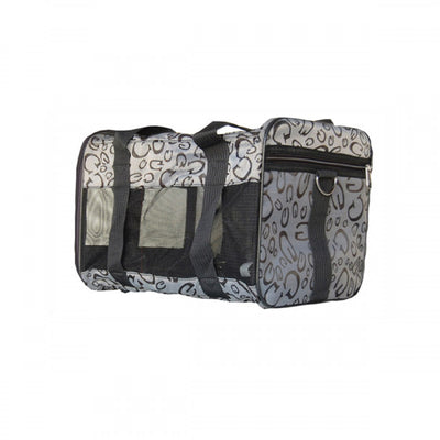 Designer Mesh Pet Carrier Airline Approved Carry On Duffel Bag - Pandaloon