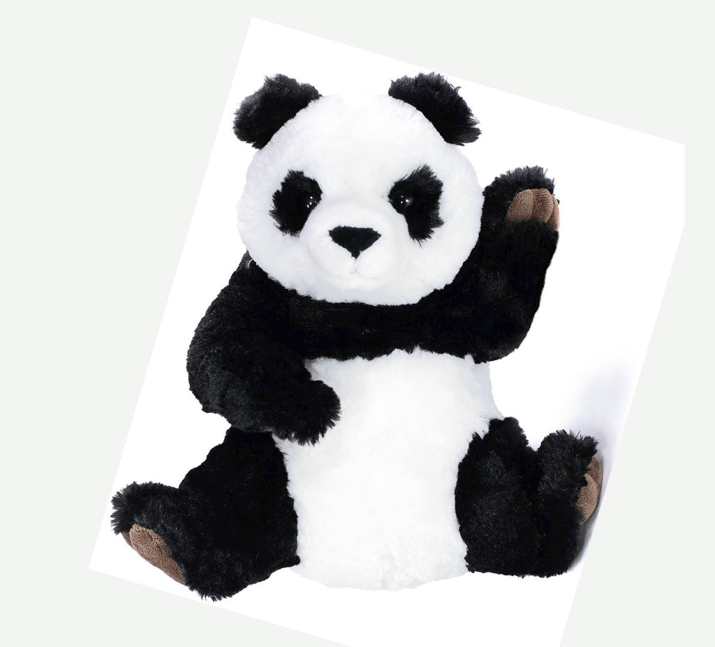 Panda Slipper Stuffed Animal Pouf Headband And Make Up Bag Gift