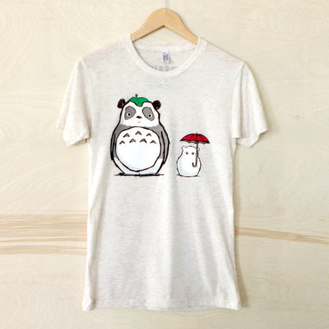 totoro panda t shirt  steppie american apparel
