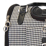 Houndstooth Dog Carrier Purse Bag - Pandaloon