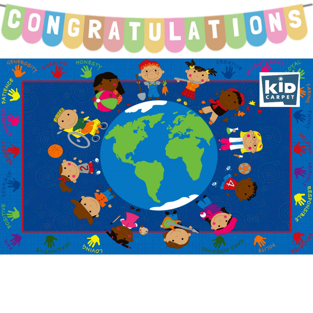 Congratulations to our winner of the World Character Classroom Rug give away!