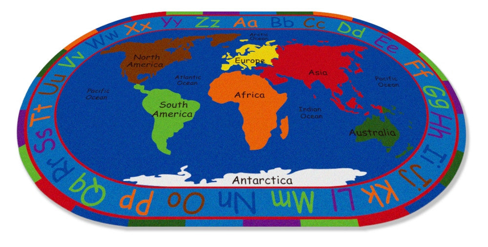 All around the world map rug kidcarpet all around the world map rug gumiabroncs Choice Image