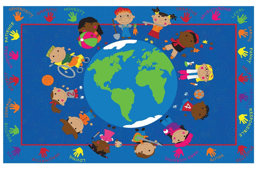 World Character Classroom Rugs Kidcarpet Com