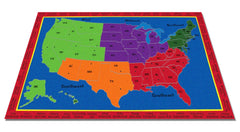 The United States of America Map Rug