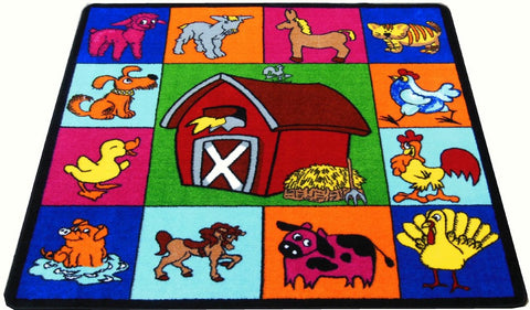 Nursery Farm Animal Rug