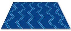 Chevron Kids Rug Blue on Blue