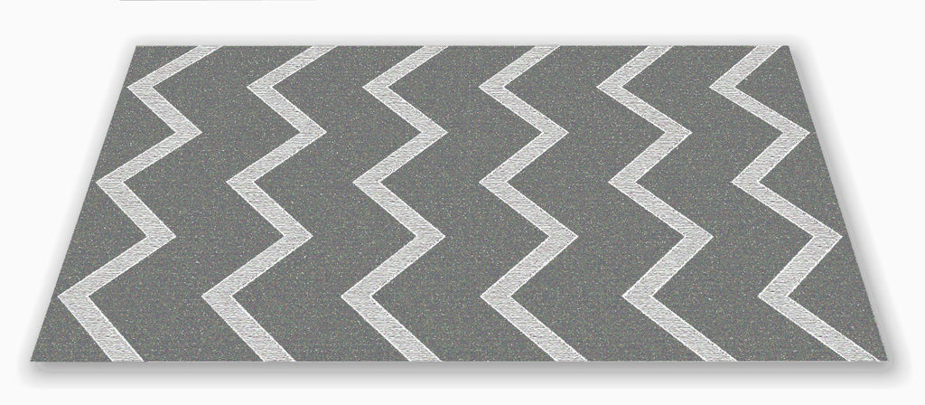 Chevron Kids Rug Grey on Grey - KidCarpet.com