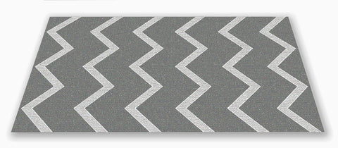 Chevron Kids Rug Grey on Grey