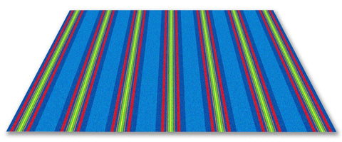 Classic Stripes Kids Rug Cool Blue