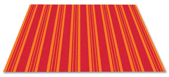 Classic Stripes Kids Rug Warm Red
