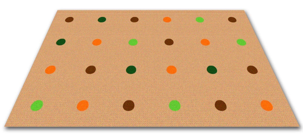 On the Spot Classroom Seating Rug Jungle Colors on Tan