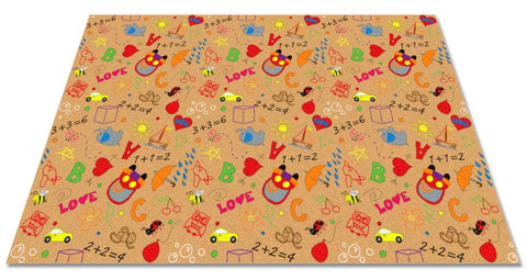 Playtime Doodle Rug Multi on Tan