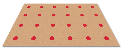 Dots In A Row Wall to Wall Carpet Red on Tan