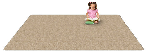 Kid-tastic Solid 30 oz. Almond Kids Carpet Wall to Wall