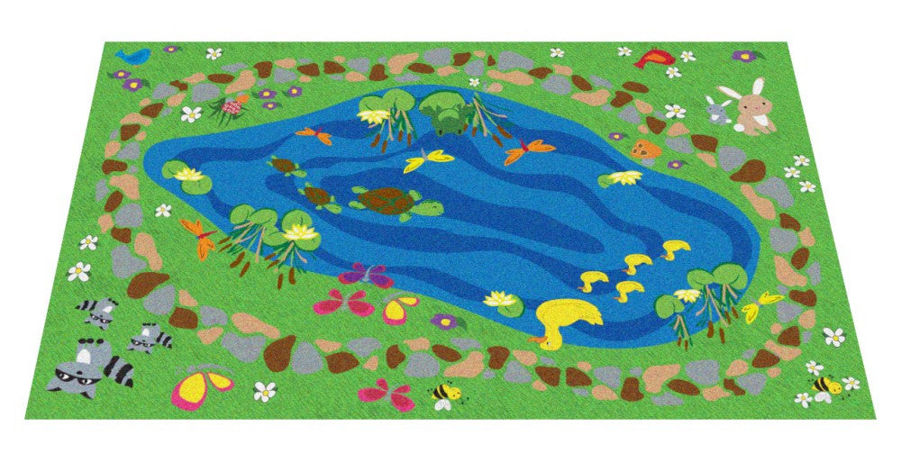Nature All Around Us Kids Rug (small size) - KidCarpet.com