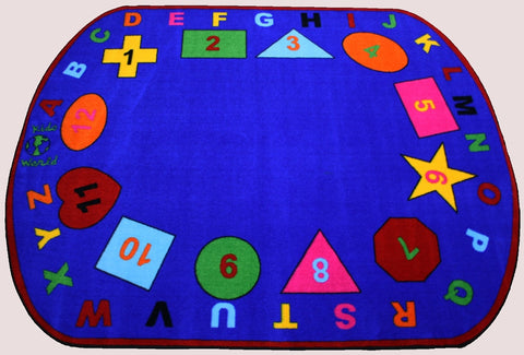 Preschool Shapes Rug With Bright Colors Kidcarpet Com