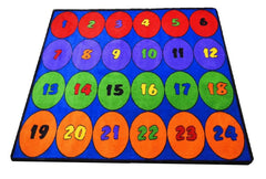 Seating Circles Classroom Rug With 24 Seats