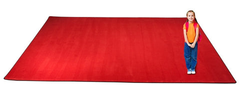 Kid-tastic Solid 30 oz. Cherry Red Kids Rug