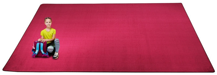 Kid-tastic Solid 30 oz. Magenta Kids Rug