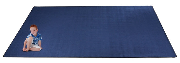 Kid-tastic Solid 30 oz. Royal Blue Kids Rug
