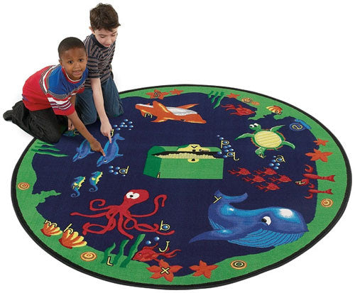 Sea Hunt Ocean Rug - KidCarpet.com