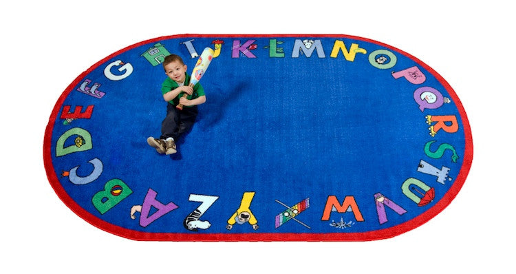 Alphabet With Attitude School Rug - KidCarpet.com