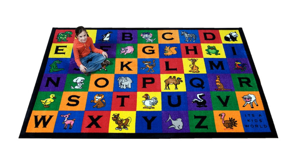 Charlie and Friends Alphabet Rug - KidCarpet.com