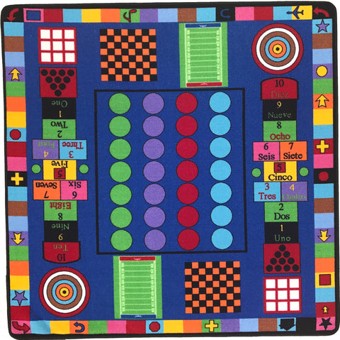 REVERSIBLE Kids Game / Country Roads Rug