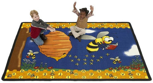 Busy Bumblebee Rug - KidCarpet.com