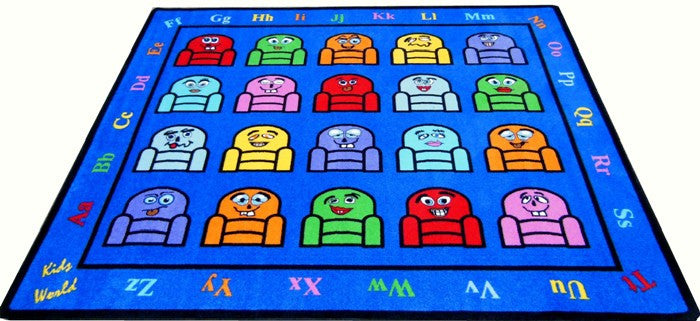 Silly Seats Kids Classroom Rug - KidCarpet.com