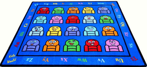 Silly Seats Kids Classroom Rug