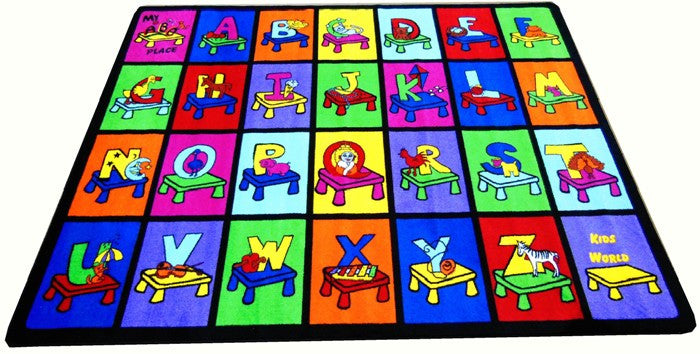 My ABC Place Seating Rug - KidCarpet.com