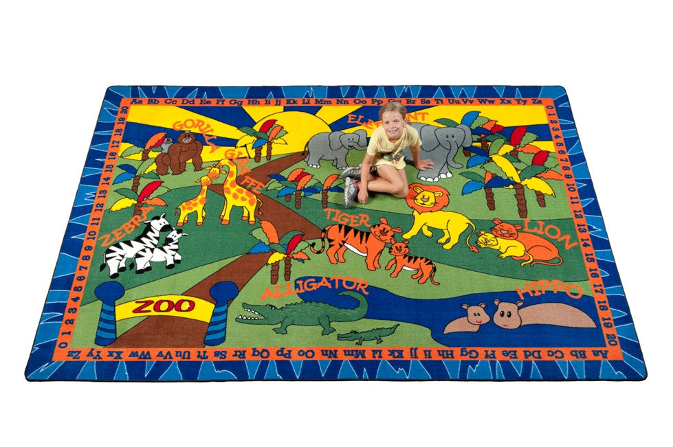 Animals at the Zoo Kids Rug