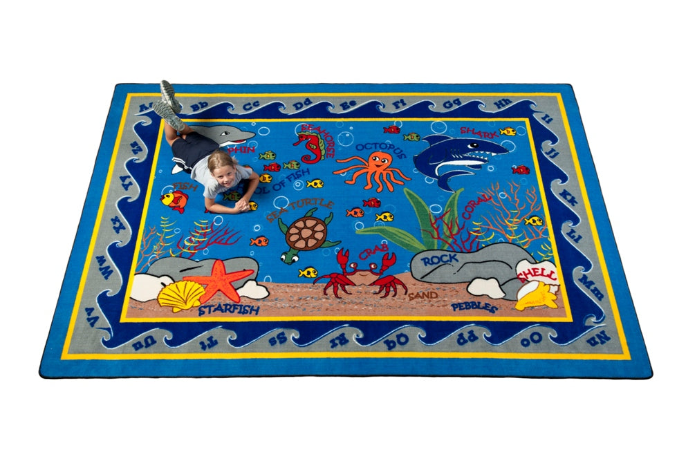 Fish in the Sea Rug - KidCarpet.com